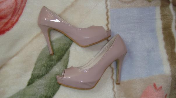 Comprinhas Aliexpress sapato nude